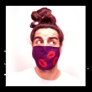 vörös foltos arcmaszk